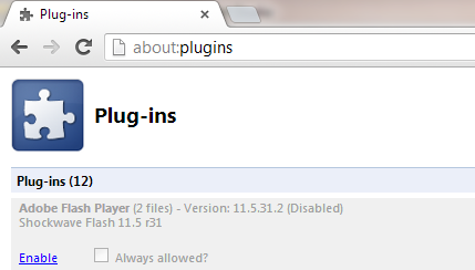 Disable Flash in Chrome