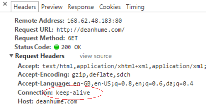 HTTP Keep alive