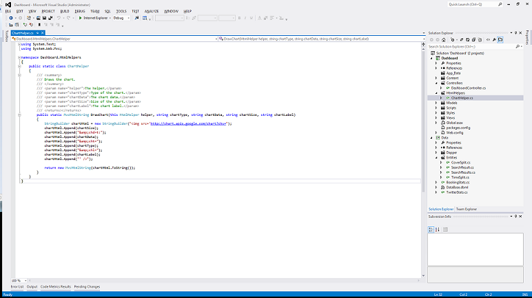 Visual Studio 2012 Layout